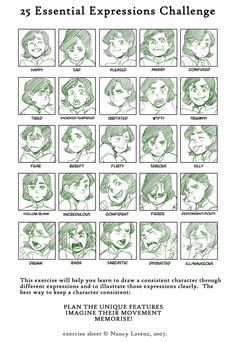 25 Essential Expressions Challenge.  Commission for veneziathehunter: Bolan Expressions by Minuiko on DeviantArt