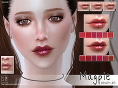 Magpie Dewey Lips by Screaming Mustard at TSR • Sims 4 Updates
