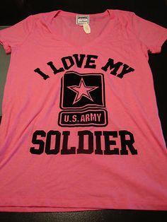 Victoria's Secret LOVE PINK I love my U.S. Army Soldier United States Military L