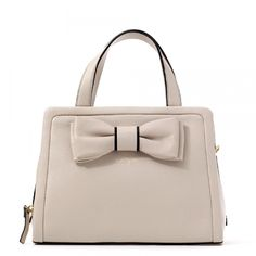 Amazon.com: Kate Spade Murray Street Dominique bow detail crossbody tote in Pebble: Shoes