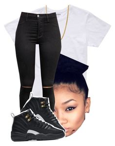 """.bored message me."" by deasia-still-thugin-honey ❤ liked on Polyvore featuring beauty, Bonobos and NIKE"