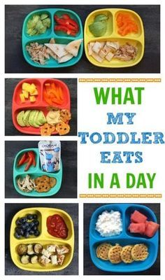 If you've had the luxury of making meals for a toddler you'll quickly appreciate the one constant that comes from creating a toddler feeding routine. Here's a look at what my toddler eats in a day- from breakfast to dinner and snacks included! @Mom to Mom Nutrition- Katie Serbinski, MS, RD