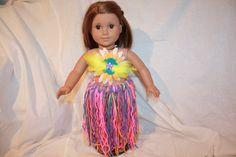 18in Doll Yarn Tutu Outfit by littleladiesthings on Etsy, $20.00