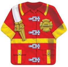 Party Time Celebrations  - Firefighter Party Shirt Plates, $7.95 (http://www.partytimecelebrations.com.au/firefighter-party-shirt-plates/)