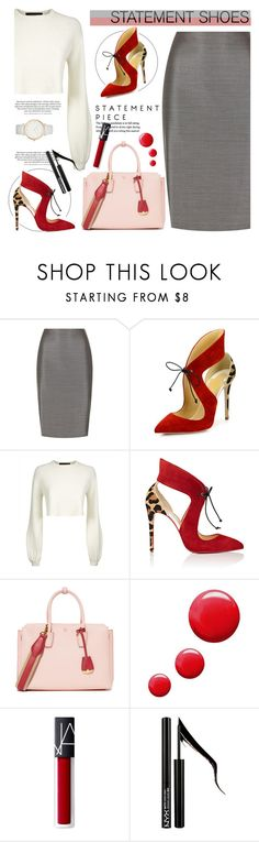 """""""Statement Shoes"""" by tamara-p ❤ liked on Polyvore featuring MaxMara, Jaeger, Christian Louboutin, MCM, Topshop, Forever 21 and Laura Ashley"""