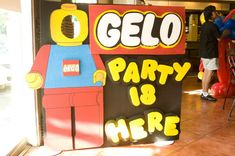 Gelo's Lego 3rd Birthday Party | CatchMyParty.com