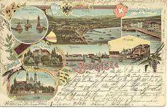 """"""" Gruss aus Bodensee, 1904 """" Karodens Vintage Post Cards."""