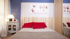 Dormitorio singular, fresco y primaveral