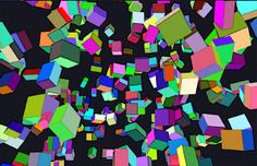 A screen full of cubes.(on my blog. use the keyword wesp333 on Google for my blog)