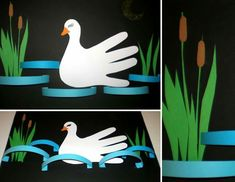 Easy Paper Crafts, Diy Crafts, Diy For Kids, Cool Kids, Preschool Art Activities, Art Lessons For Kids, Disney Characters, Fictional Characters, Swans