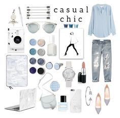 """""""Casual chic"""" by kyramichels ❤ liked on Polyvore featuring Velvet, Abercrombie & Fitch, Jimmy Choo, Skagen, Alexander Wang, Terre Mère, Marc Jacobs, Essie, David Jones and Lomography"""