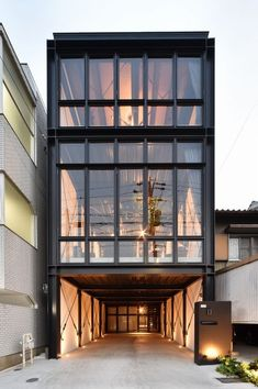 Sixten Sason in wonderland is part of Architecture house - ica associates inc, Stoic Smile, Nagoya, Aichi Prefecture Industrial Architecture, Interior Architecture, Townhouse Designs, Modern Townhouse, Townhouse Exterior, Casas Containers, Narrow House, Container House Design, Building Exterior
