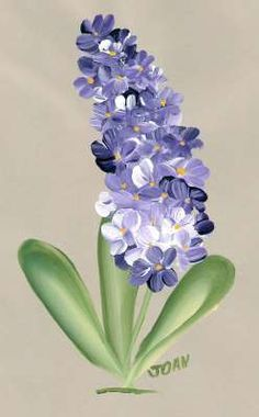 One Stroke Painting - Hyacinths