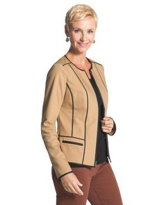 City Chic Sophisticated Seamed Jacket