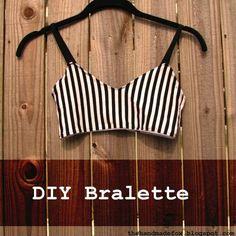 The handmade fox: diy bralette--first draft diy lingerie & h Lingerie Couture, Sewing Lingerie, Diy Couture, Diy Clothing, Sewing Clothes, Clothing Patterns, Bralette Pattern, Bra Pattern, Diy Bralette