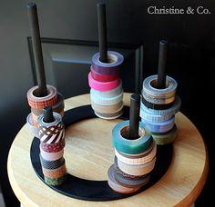 DIY Washi Tape Corral ~ Christine & Co.