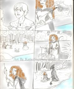 Merida and Hiccup. Seriously, they are perfect for each other!