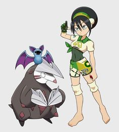 See more 'Pokemon Fan Teams' images on Know Your Meme! Pokemon Avatar, Pokemon Waifu, Team Avatar, Avatar Aang, Pokemon Crossover, Anime Crossover, Character Art, Character Design, Pokemon Fan Art