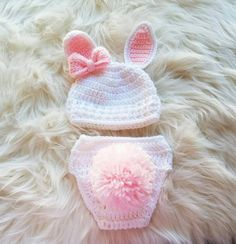 Newborn Bunny Outfit Bunny Halloween Costume Crochet Bunny Set Baby Photo Prop Newborn Costume First Halloween Baby Shower Gift - Halloween Makeup Baby Girl Crochet, Crochet Baby Clothes, Newborn Crochet, Crochet Bunny, Bunny Halloween Costume, Baby Halloween, Baby Bunny Outfit, Bunny Hat, Easter Outfit