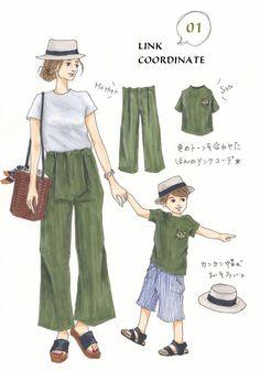 Instagramで今話題のファッションイラスト。大人気のイラストレーターSaekoさんが「今着たいユニクロアイテム」を使ったコーディネートを提案する連載、第6弾!今回は、ご家族で楽しめるリンクコーデをご紹介します。お揃いアイテムを着るしっかりリンクコーデから、なんとなくまとまって見えるほんのりリンクコーデまで、夏のお出かけがもっと楽しくなるアイデアがいっぱいです!「ママと男の子のリンクコーデは、...