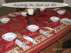 Hospitality...the Heart and Art. Ideas to practice this holiday season.