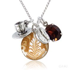 Sterling Silver Barista Charm Necklace. #coffee/if anyone still needs to get me something for christmas... ;)