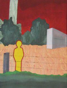 'Triptych Leie Panel1'('Drieluik Leie Luik1') - Oil on canvas 'Olieverf op doek) - 23.62 in x 31.50 in (60 cm x 80 cm) - Feb 23, 2013 (23 februari 2013) -  http://cobalus-schilderingen.blogspot.com