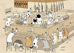 Olha que amooor essas ilustrações de gatinhos! Vi uma no Pinterest e fui atrás de mais informações, mas a única coisa que consegui encontrar foi este blog, que parece ser da Ms. Cat que assina os d…
