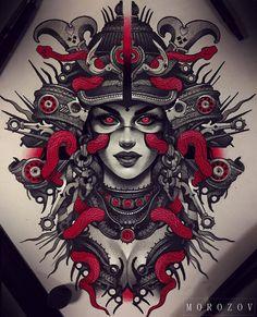"""Polubienia: 2,321, komentarze: 8 – Irezumi Collective (@irezumicollective) na Instagramie: """"️ Artwork by: Jess Yen Location: Alhambra CA, USA Artist's IG: @jessyentattoo…"""""""
