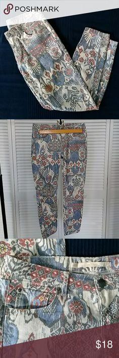 Skinny printed jean Skinny jean with super nice print Zara Jeans Skinny