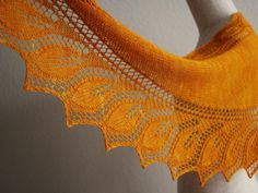 Semele is a sideways, elegant, leafy lace shawl, knitted in one piece. You will want to knit more than one –the leaf pattern creates a nice rhythm that keeps your interest piqued.Size with two 50g skeins of Malabrigo Lace: 140 cm x 40 cm (56 in x 15 in) Size with 2 skeins of Fyberspates Scrumptious 4ply: 240 cm x 55 cm (95 in x 22 in)Semele looks equally good in a nice fingering yarn as in delicate lace.The knitting begins with a little quirk -- the first leaf is knit in the opposite…