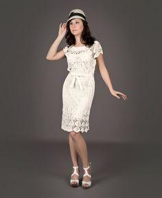 TENDENCIAS de la moda de CROCHET exclusivo blanco por LecrochetArt