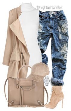 """""""Suede Decision"""" by highfashionfiles ❤ liked on Polyvore featuring Levi's, Rick Owens, Balenciaga, Gianvito Rossi, River Island and Nixon"""