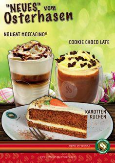 "Osterspezialitäten by Coffeeshop Company  https://www.youtube.com/watch?v=-VUuTcQyqlw  Nougat Moccacino® Cookie ""Choco Late"" Karottenkuchen  Jetzt in allen teilnehmenden Coffeeshops!"