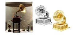 3D Metallic DIY Puzzle Stainless Gold Silver Musical Classic Gramophone Machine | eBay