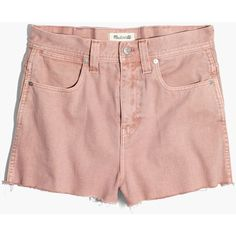 Madewell x Where I Was From™ High-Rise Jean Shorts (€74) ❤ liked on Polyvore featuring shorts, gentle blush, vintage high waisted shorts, denim cut-off shorts, high-waisted denim shorts, high-waisted cutoff shorts and cutoff shorts