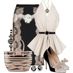 Lace Skirt ..., created by mrsbro on Polyvore