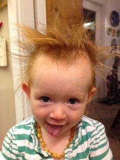 True hair raising crazy baby hair