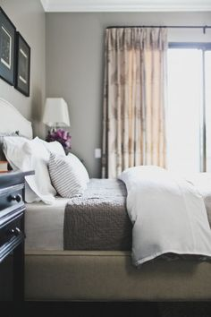 Neutral toned master bedroom | Catherine Kwong Design