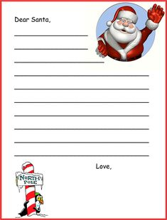 A christmas lesson plan write a letter to santa clause christmas colourful template for letter to santa claus spiritdancerdesigns Image collections