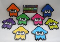 Splatoon: Squids Perler Beads by CorneliusPixelCrafts