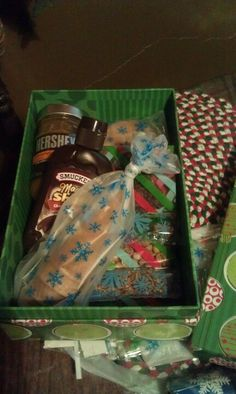 "My version of the ""just add ice cream"" gift box it was a hit"