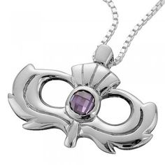 Silver Scottish Thistle Pendant | at Scottish Designer Jewellery