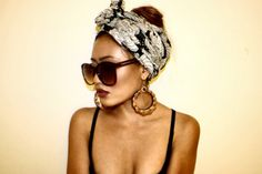 headwraps and oversized sunnies.