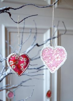 for our seasonal tree - valentine ornaments
