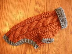 Items similar to Dog Sweater - Ribbed Cable Knit - Rust - Length - Yorkie - Chihuahua on Etsy Dog Sweater Pattern, Knit Dog Sweater, Dog Sweaters, Dog Clothes Patterns, Coat Patterns, Knitting Patterns, Crochet Patterns, Fleece Dog Coat, Dog Jumpers