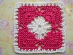 Seville square Pattern from 200 Crochet Blocks by Jan Eaton