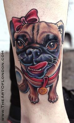 This is awesome!!! It would be so cool to have a tattoo of my puggies