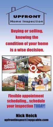 Upfront Home Inspections.  928.785.2069  www.marykay.com/shale1  www.southwesternproperties.net
