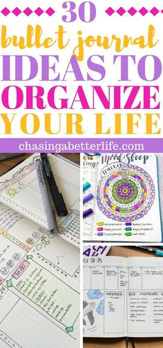 Genius bullet journal ideas to organize your life. #bulletjournalideas #bulletjournallogs #buJo #bulletjournalinspiration